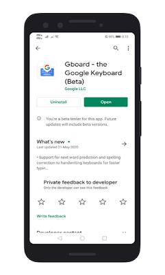 Instal / Perbarui Aplikasi Gboard