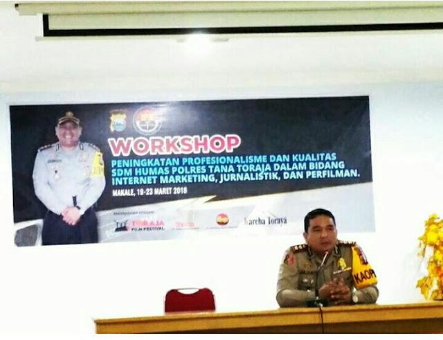 Polres Tana Toraja Gelar Pelatihan Jurnalist, Pematerinya dari LSM Pemilik TFF, Kok Bisa??