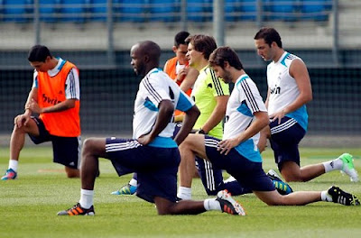 Real Madrid 2012-2013 first training