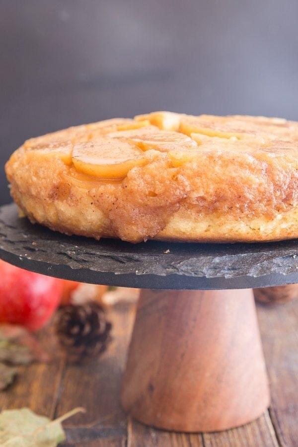 caramel apple upside down cake