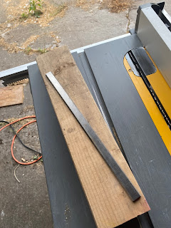 2 X 4 and a planer knife