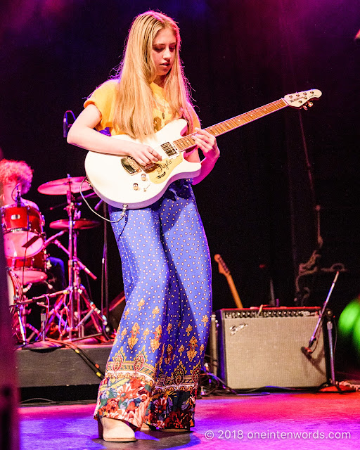 Ayla Tesler-Mabe of Calpurnia at The Phoenix Concert Theatre on October 20, 2018 Photo by John Ordean at One In Ten Words oneintenwords.com toronto indie alternative live music blog concert photography pictures photos