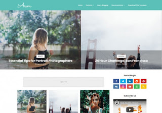Aeon Blogger Template, shayari website template