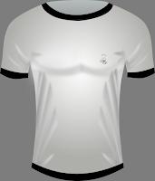 camiseta blanca de hombre