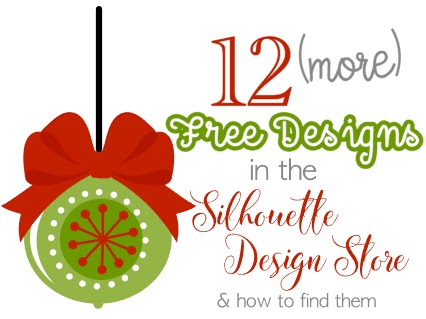 12 more free silhouette studio designs from the design store