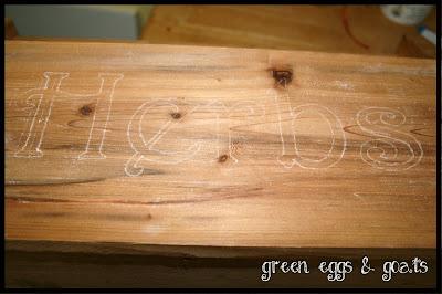 Transferring words onto wood