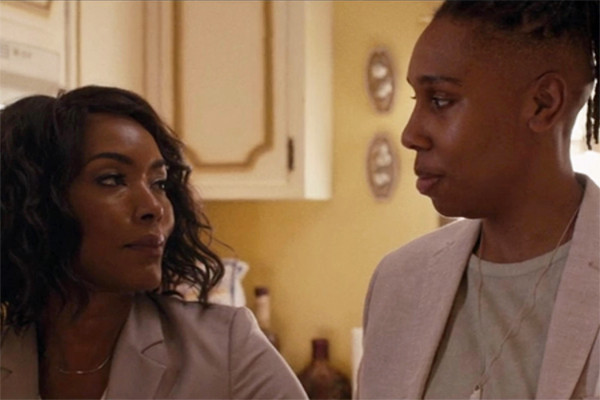 screen cap of Angela Bassett as Catherine and Lena Waithe as Denise in Season Two of Master of None