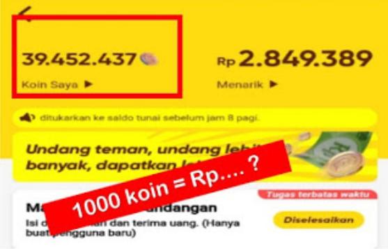 1000 Koin Snack Video Berapa Rupiah, Begini Caranya Mengeceknya