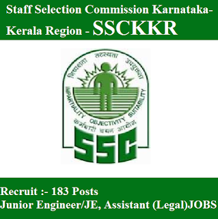 Staff Selection Commission Karnataka-Kerala Region, SSCKKR, freejobalert, Sarkari Naukri, SSCKKR Answer Key, Answer Key,ssckkr logo