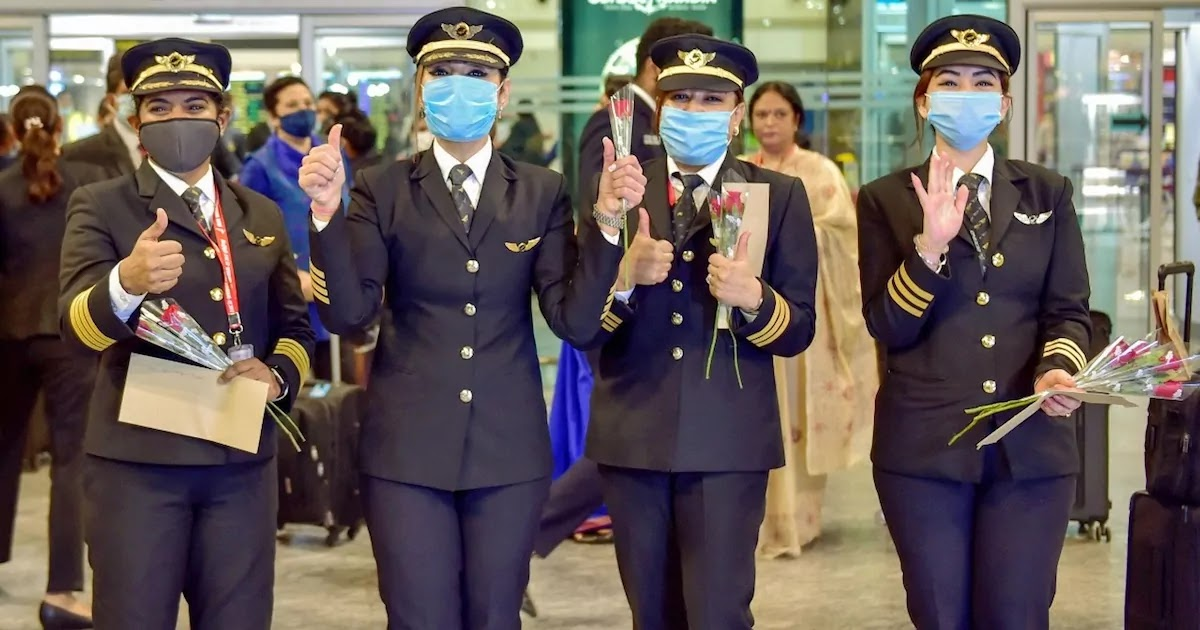 Air India Makes History With An All-Woman Pilot Crew Completing The Longest Commercial Flight Across The World