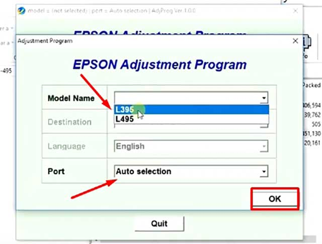 resetear el contador de almohadilla Epson L395 y L495
