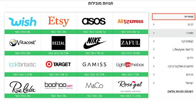 קטשדו cashed - אתר הקאשבק הישראלי