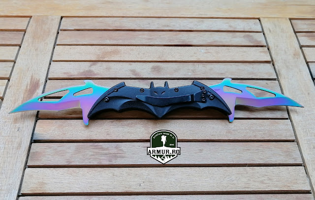 Briceag Batman cu 2 lame Fade Batman knife