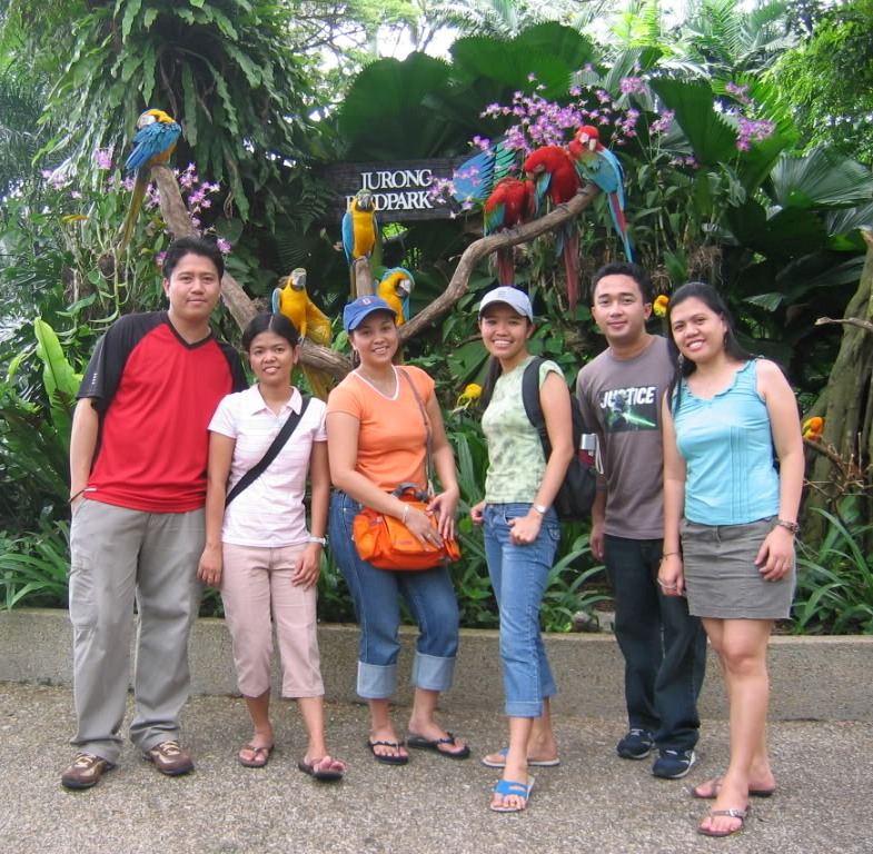 Visitors to Singapore Jurong Bird Park.