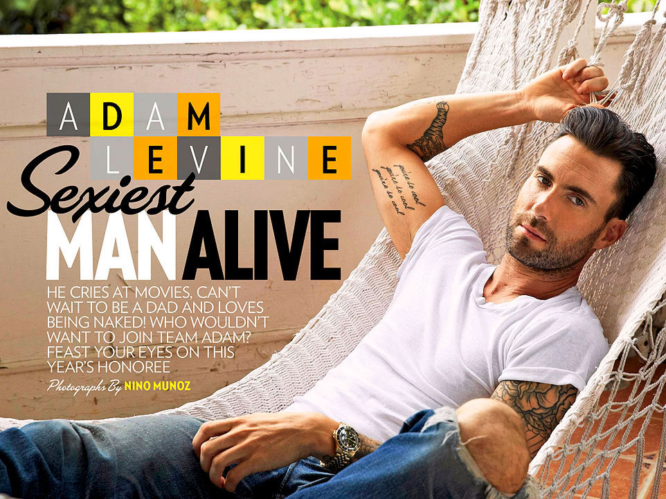 Image result for adam levine people sexiest man alive