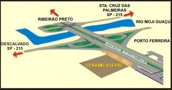 Mapa: Objeto de decoração de Porto Ferreira - SP