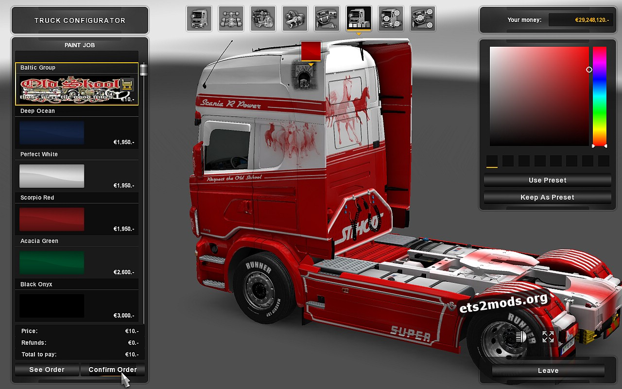 Scania RJL Baltic Group Skin