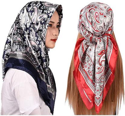 Elegant Satin Head Scarves