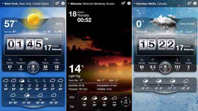 free Weather Apps For Android 2018