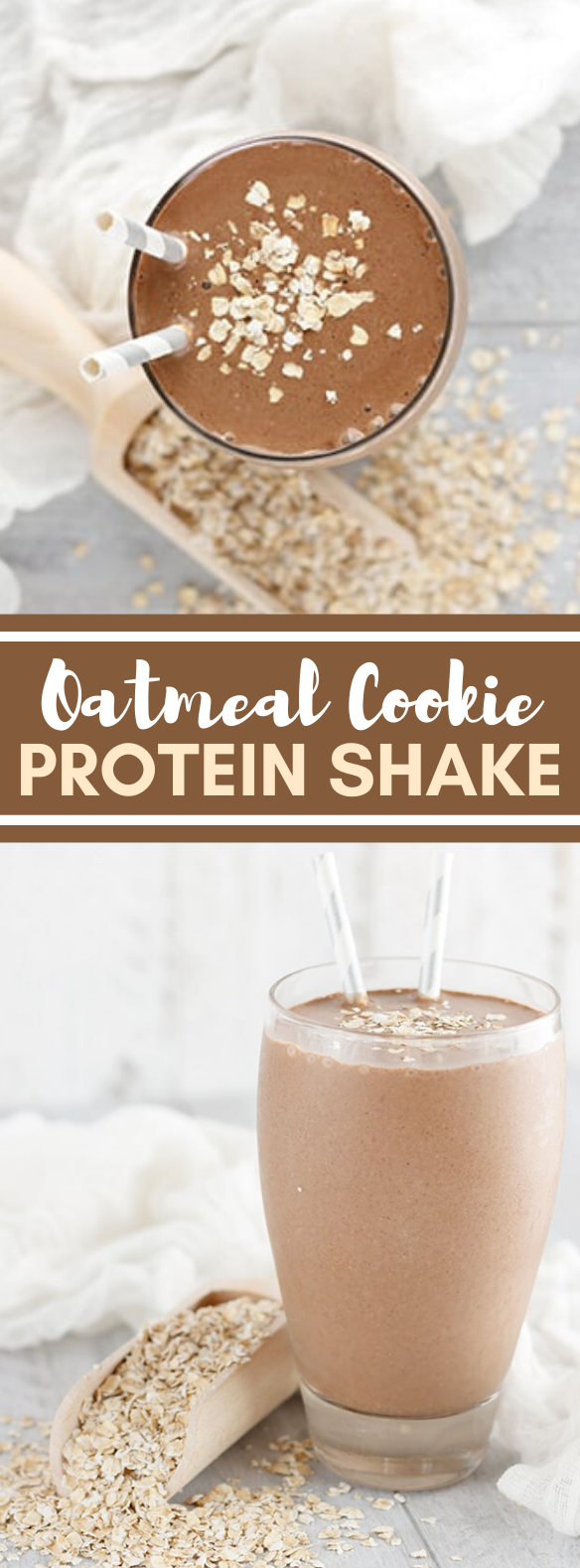 Oatmeal Cookie Protein Shake #drinks #healthy
