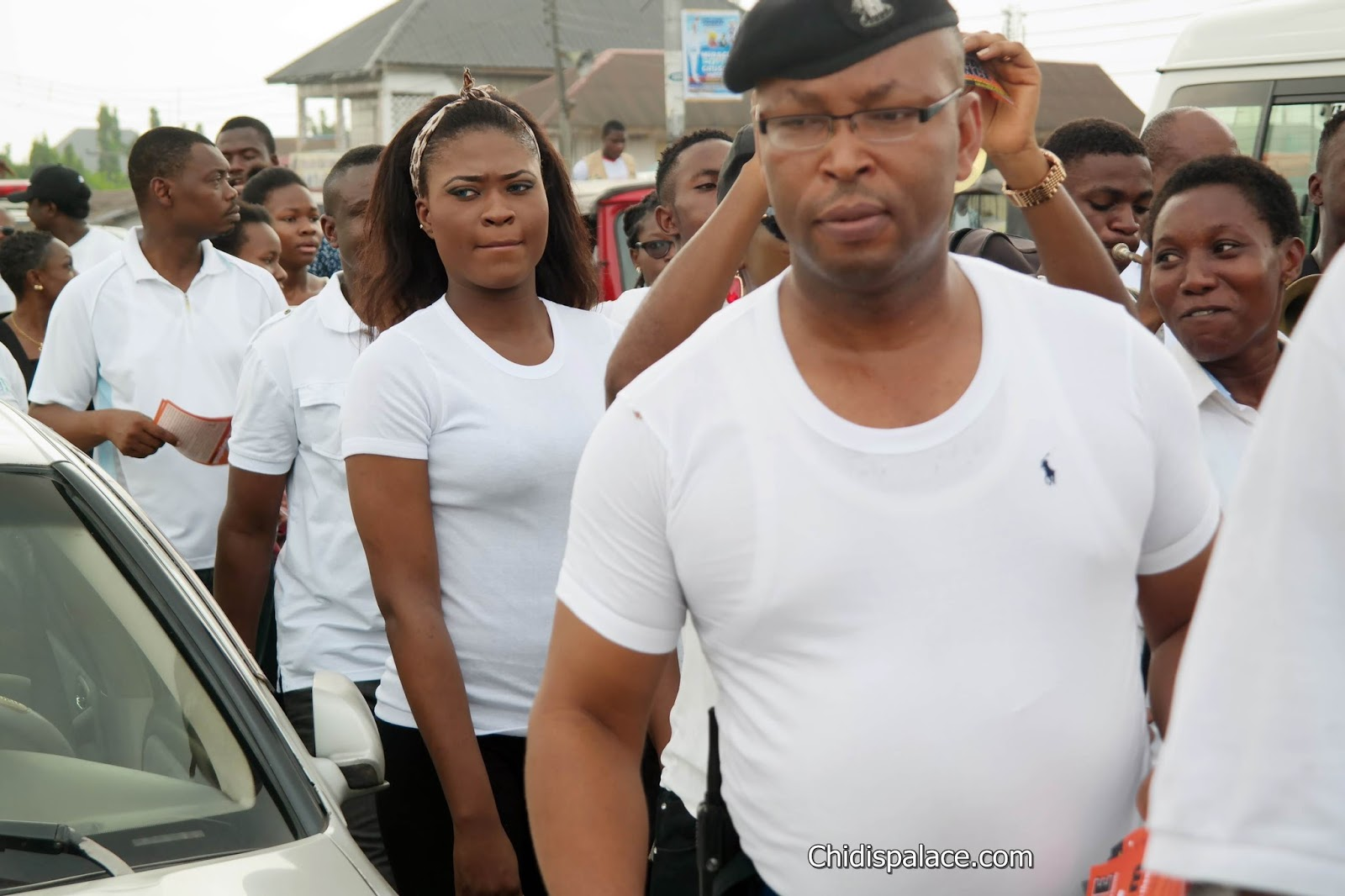 Men walk against Gender Based Violence in Yenagoa
