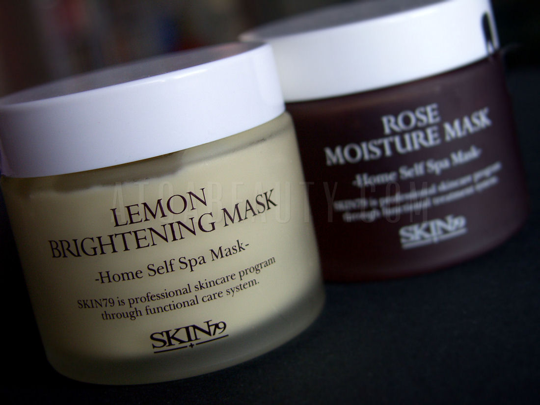 Skin79 Lemon Brightening Mask, Skin79 Rose Moisture Mask