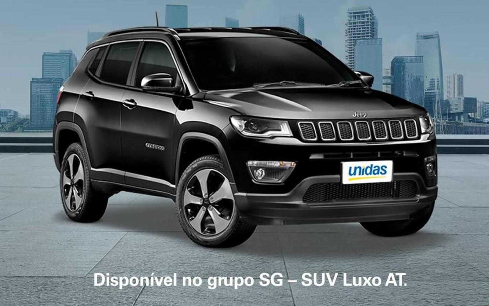Jeep Compass Disponivel Para Alugar Na Unidas E Localiza Box 55