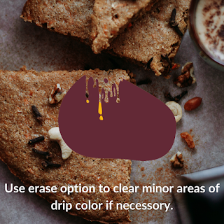 How to create juicy drip effect in Canva ?
