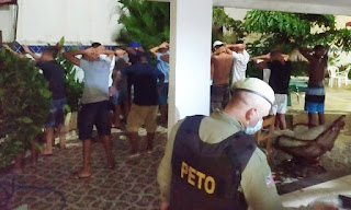 Festa encerrada na Bahia