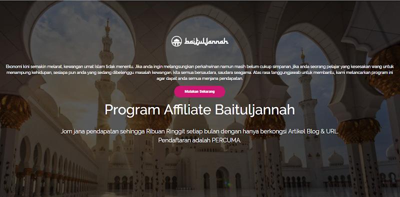Jana Pendapatan Online Sebagai Affiliate Baituljannah.com