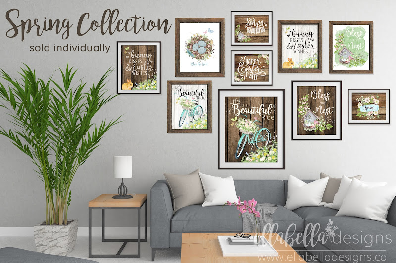 Collection of Spring Wall Art Printables