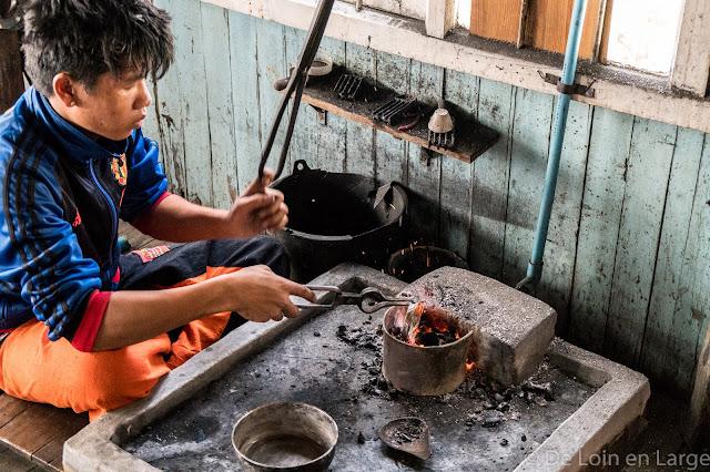 Atelier Shwe War Win - Ywama - Lac Inle - Birmanie Myanmar