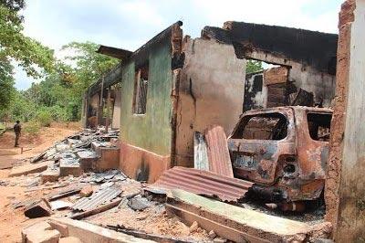 Photos: IGP Solomon Arase Visits Enugu Fulani Herdsmen Terrorist Attack Scene