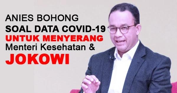 Anies Baswedan Bohong Soal Data Covid-19