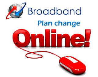 BSNL Broadband Plan Change Online