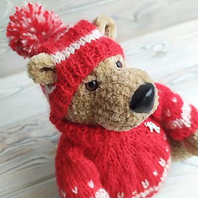 свитер спицами для игрушки