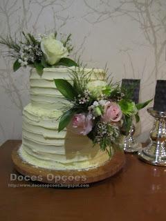 bolo flores naturais