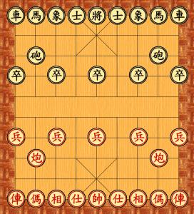 Xiangqi : la position des pieces en debut de partie
