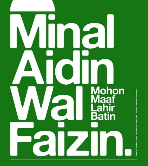 Ucapan Minal Aidin Wal Faizin