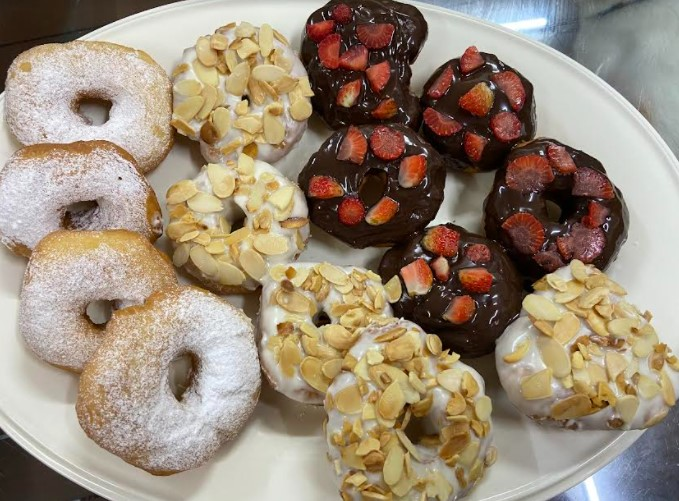 donut gebu sukatan cawan, resepi donut mudah, donut sedap, donut gebu