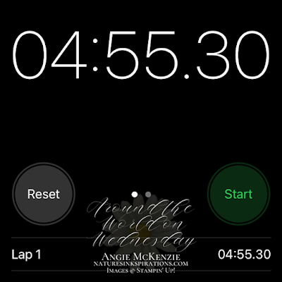 Stopwatch time after stamping sentiment panels