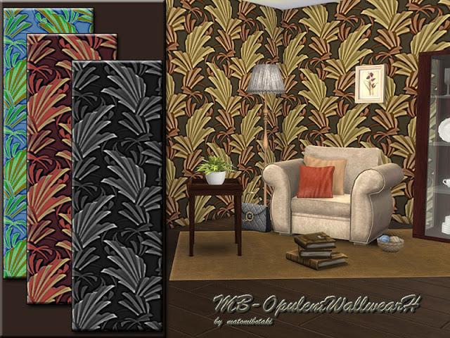 Стены с растительным рисунком для The Sims 4 со ссылками на скачивание