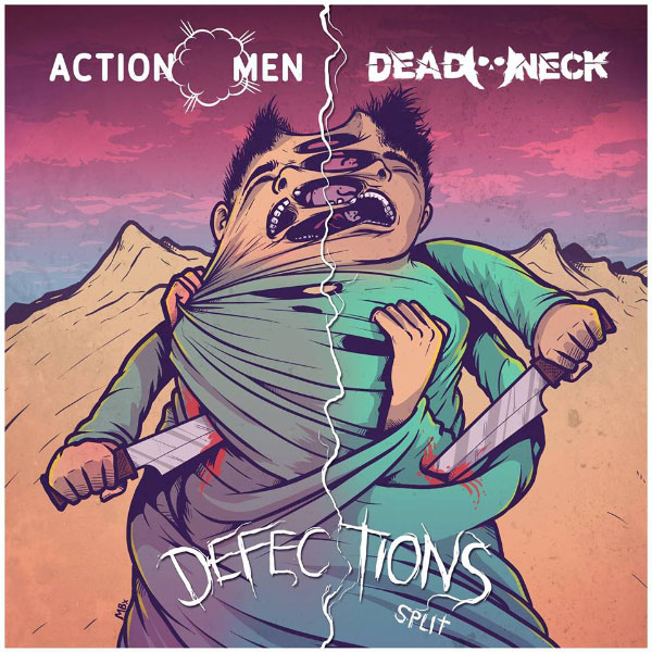 "Skatepunkers Exclusive: Actionmen and Dead Neck stream new songs off upcoming split ""Defections"""