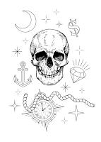 череп тату часы время уфа