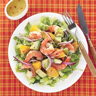 Рецепт салата ; Креветки с ананасом