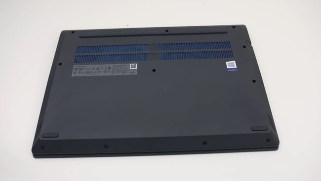 Air intake vents on the back cover of the Lenovo IdeaPad L340 laptop.