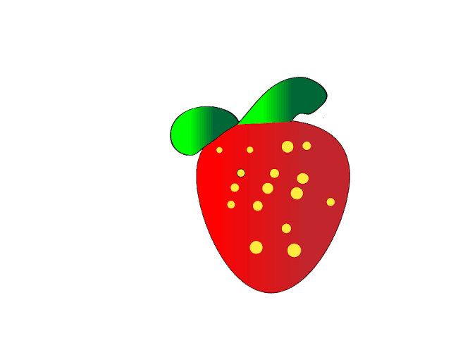 Geshery's Strawberry Drawing on Illustrator