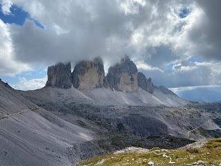 View of Tre Cime di Lavaredo from the north.