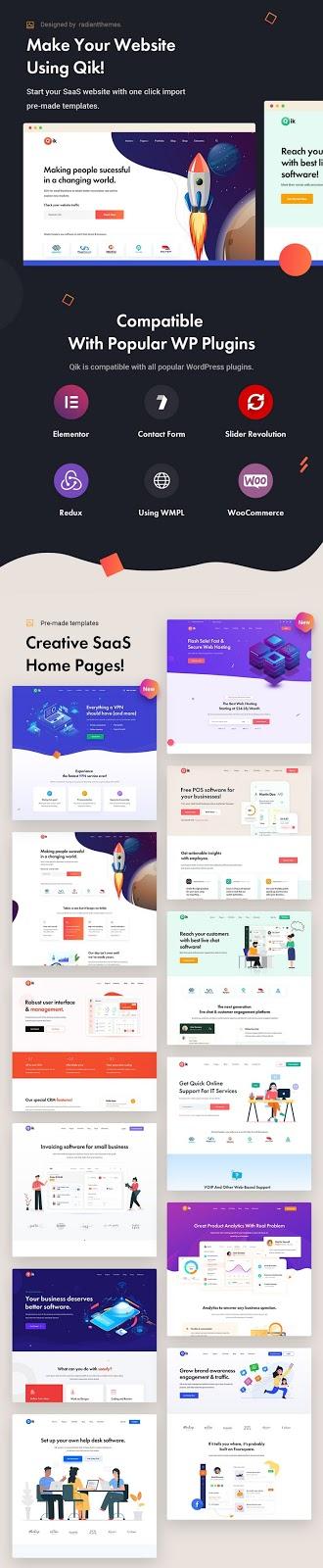 SaaS Startup Premium WordPress Theme