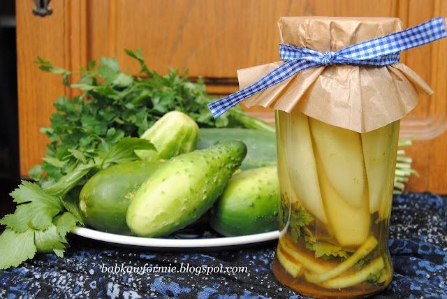 przetwory na zimę ogórki w słodkiej zalewie curry babkawformie.blogspot.com